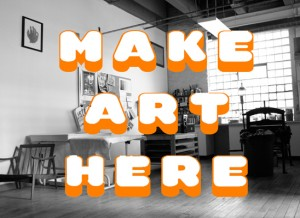 Make art here