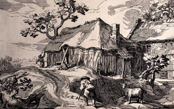 Boetius Adams Bolswert, After Abraham Bloemaert, Landscape, c. 1614, Etching on laid paper. Smart Museum of Art, Bequest of Ruth Philbrick, 2010.37