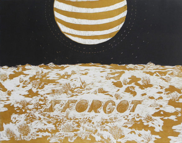 7. I Forgot - 23.75_ w x 19_ h - Woodcut