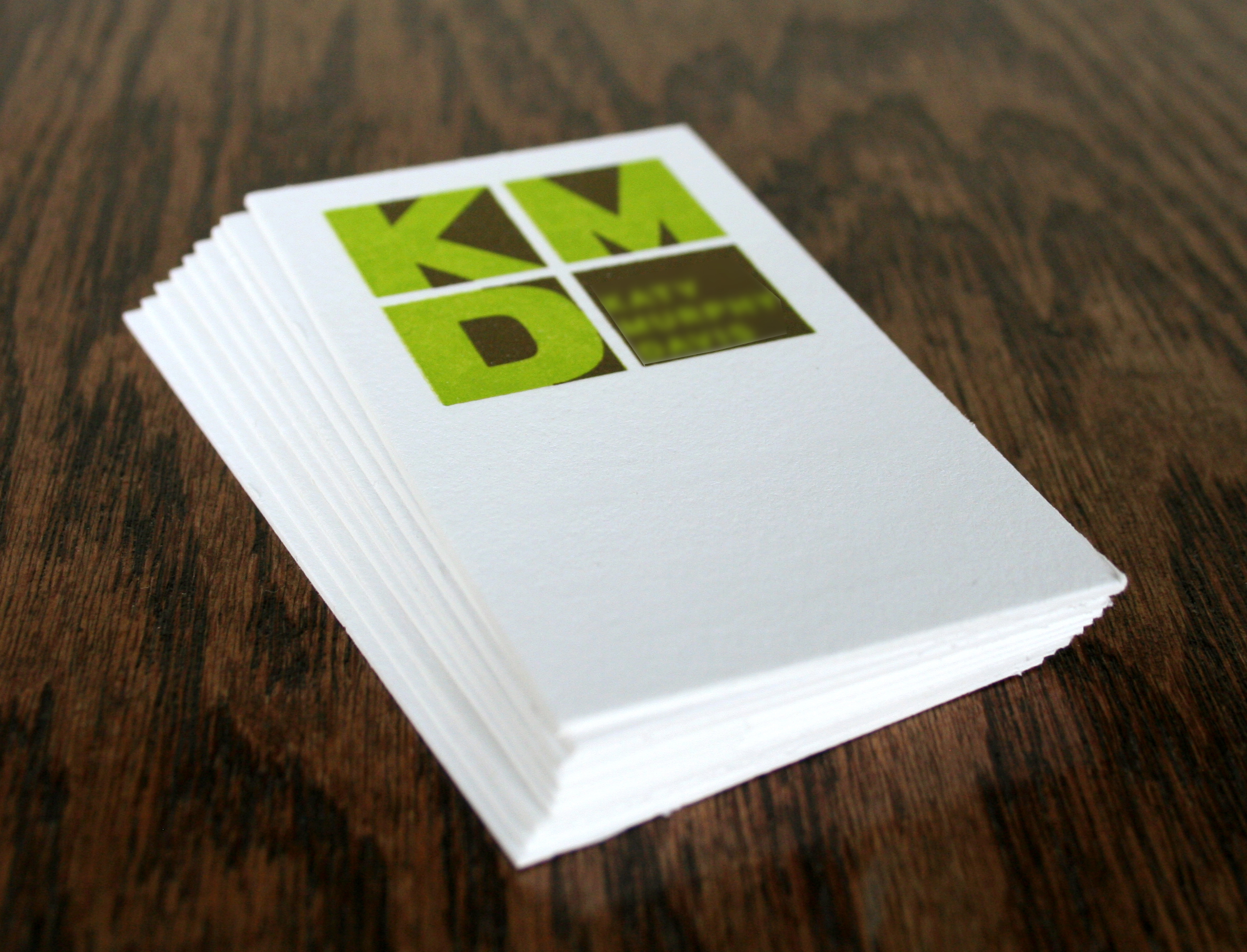 1000 2-Color Letterpress Business Cards | Spudnik Press